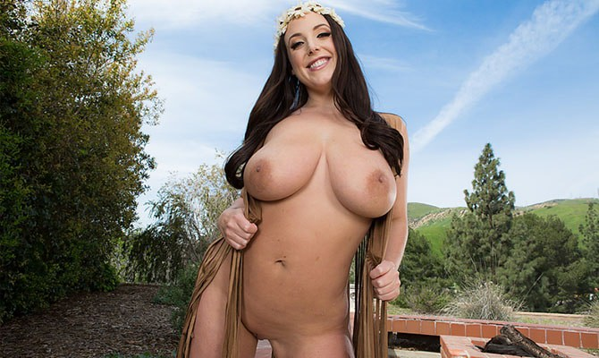 Female pornstar with big natural tits